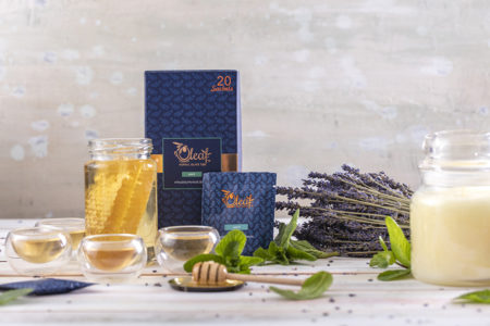Mint herbal teabag