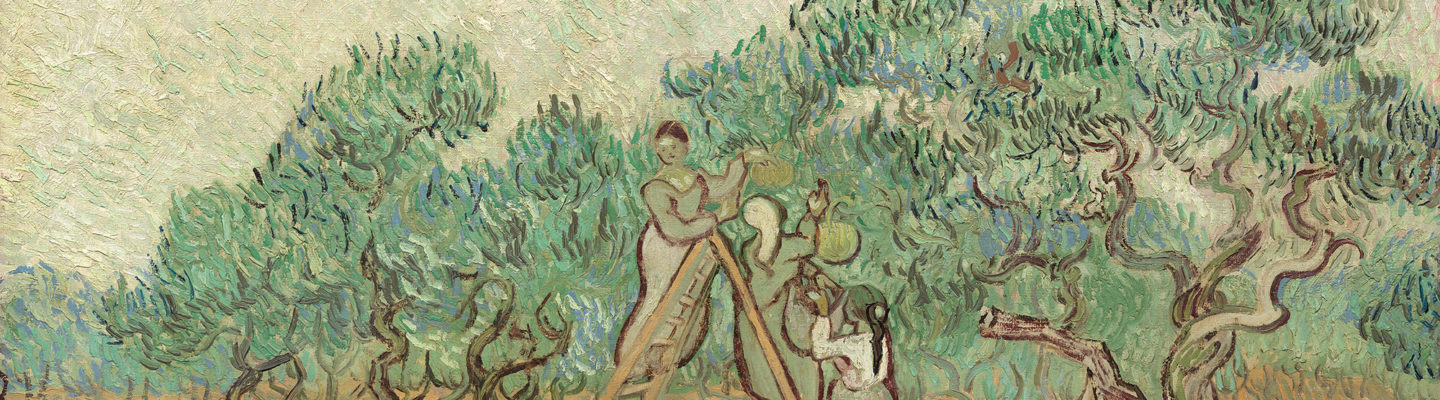 Canva - The Olive Orchard by Vincent van Gogh, 1889. Courtesy of the National Art Gallery, Washington